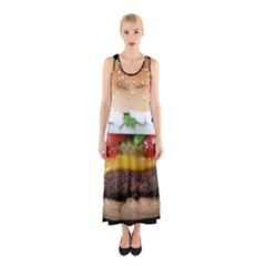 Abstract Barbeque Bbq Beauty Beef Sleeveless Maxi Dress