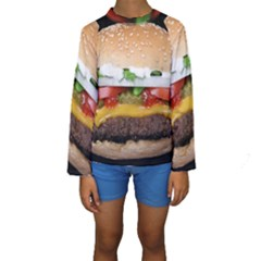 Abstract Barbeque Bbq Beauty Beef Kids  Long Sleeve Swimwear