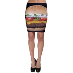 Abstract Barbeque Bbq Beauty Beef Bodycon Skirt