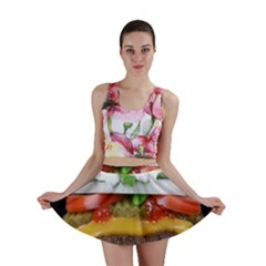 Abstract Barbeque Bbq Beauty Beef Mini Skirt