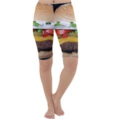 Abstract Barbeque Bbq Beauty Beef Cropped Leggings