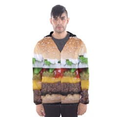 Abstract Barbeque Bbq Beauty Beef Hooded Wind Breaker (Men)