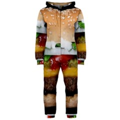 Abstract Barbeque Bbq Beauty Beef Hooded Jumpsuit (Ladies)