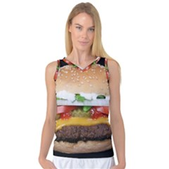 Abstract Barbeque Bbq Beauty Beef Women s Basketball Tank Top
