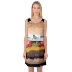 Abstract Barbeque Bbq Beauty Beef Sleeveless Satin Nightdress