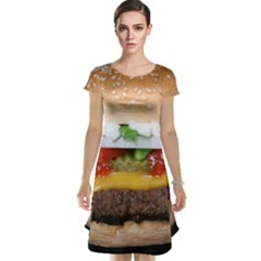 Abstract Barbeque Bbq Beauty Beef Cap Sleeve Nightdress