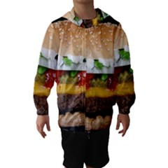 Abstract Barbeque Bbq Beauty Beef Hooded Wind Breaker (kids)