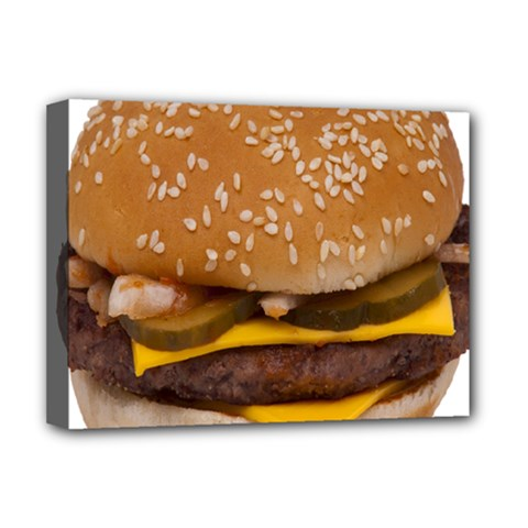Cheeseburger On Sesame Seed Bun Deluxe Canvas 16  x 12