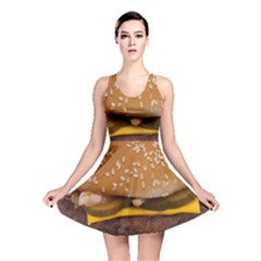 Cheeseburger On Sesame Seed Bun Reversible Skater Dress