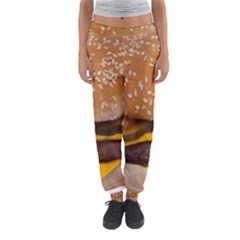 Cheeseburger On Sesame Seed Bun Women s Jogger Sweatpants