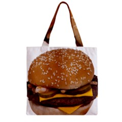 Cheeseburger On Sesame Seed Bun Zipper Grocery Tote Bag