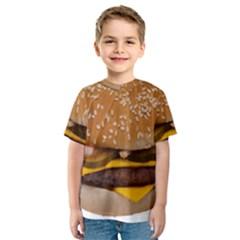 Cheeseburger On Sesame Seed Bun Kids  Sport Mesh Tee
