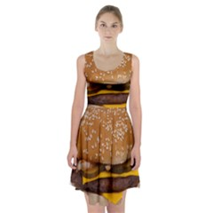 Cheeseburger On Sesame Seed Bun Racerback Midi Dress