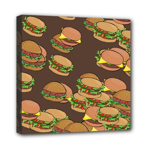 A Fun Cartoon Cheese Burger Tiling Pattern Mini Canvas 8  X 8