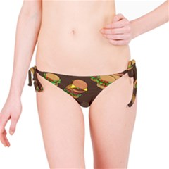 A Fun Cartoon Cheese Burger Tiling Pattern Bikini Bottom