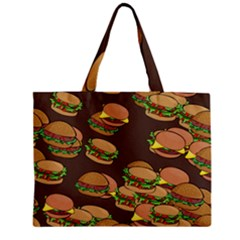 A Fun Cartoon Cheese Burger Tiling Pattern Mini Tote Bag