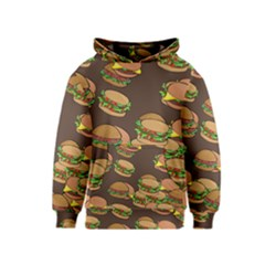 A Fun Cartoon Cheese Burger Tiling Pattern Kids  Pullover Hoodie
