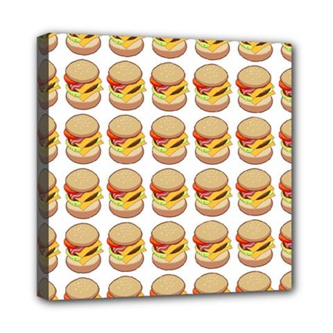 Hamburger Pattern Mini Canvas 8  X 8