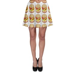 Hamburger Pattern Skater Skirt