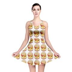 Hamburger Pattern Reversible Skater Dress