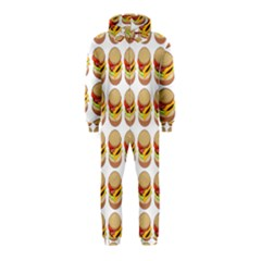 Hamburger Pattern Hooded Jumpsuit (Kids)