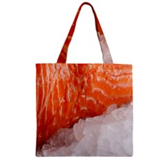 Abstract Angel Bass Beach Chef Zipper Grocery Tote Bag