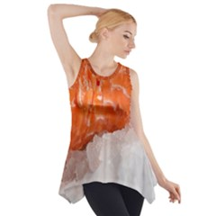 Abstract Angel Bass Beach Chef Side Drop Tank Tunic