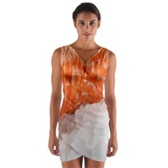 Abstract Angel Bass Beach Chef Wrap Front Bodycon Dress