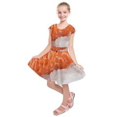 Abstract Angel Bass Beach Chef Kids  Short Sleeve Dress