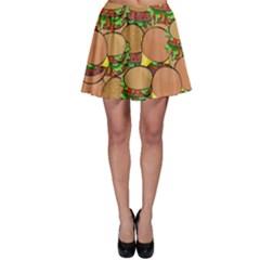 Burger Double Border Skater Skirt