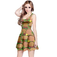 Burger Double Border Reversible Sleeveless Dress