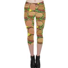 Burger Double Border Capri Leggings