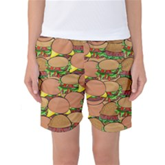 Burger Double Border Women s Basketball Shorts