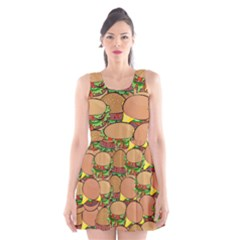 Burger Double Border Scoop Neck Skater Dress