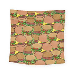Burger Double Border Square Tapestry (small)