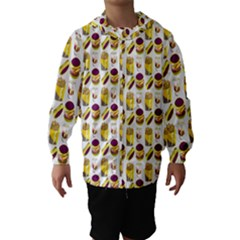 Hamburger And Fries Hooded Wind Breaker (kids)