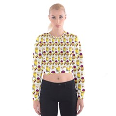 Hamburger And Fries Women s Cropped Sweatshirt
