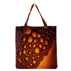 Bubbles Abstract Art Gold Golden Grocery Tote Bag