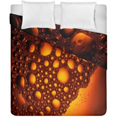 Bubbles Abstract Art Gold Golden Duvet Cover Double Side (california King Size)