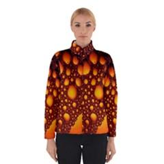 Bubbles Abstract Art Gold Golden Winterwear