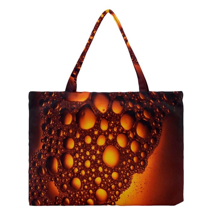 Bubbles Abstract Art Gold Golden Medium Tote Bag