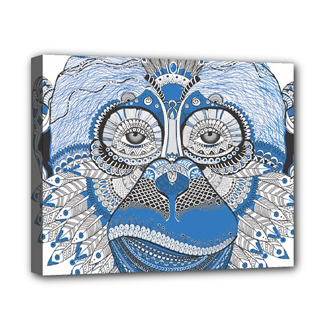 Pattern Monkey New Year S Eve Canvas 10  X 8