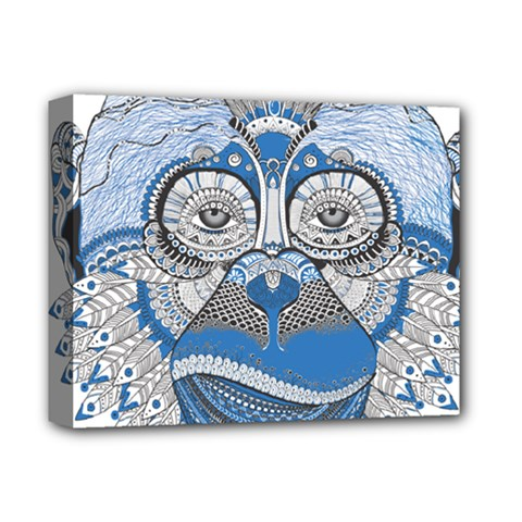 Pattern Monkey New Year S Eve Deluxe Canvas 14  X 11