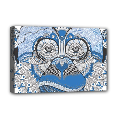 Pattern Monkey New Year S Eve Deluxe Canvas 18  x 12