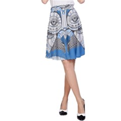 Pattern Monkey New Year S Eve A-Line Skirt