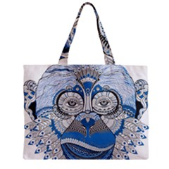 Pattern Monkey New Year S Eve Zipper Mini Tote Bag