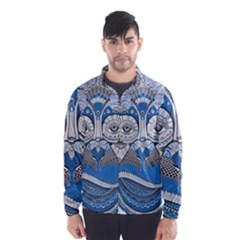 Pattern Monkey New Year S Eve Wind Breaker (men)