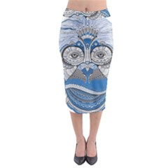 Pattern Monkey New Year S Eve Midi Pencil Skirt
