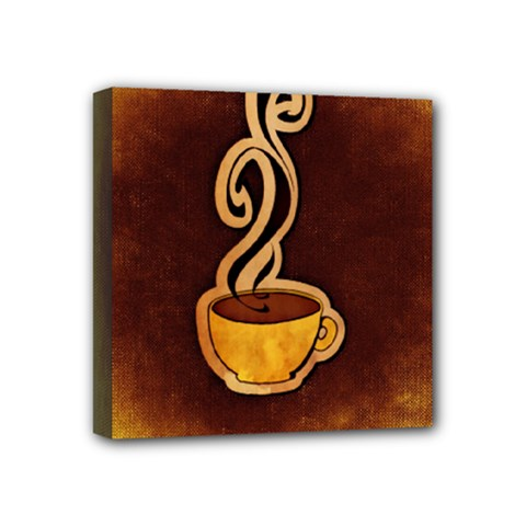 Coffee Drink Abstract Mini Canvas 4  X 4
