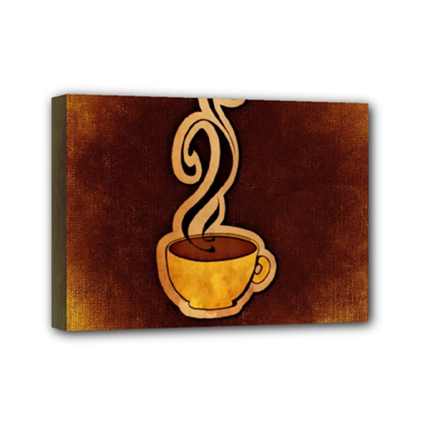 Coffee Drink Abstract Mini Canvas 7  X 5